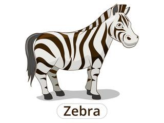 Zebra african savannah animal cartoon vector