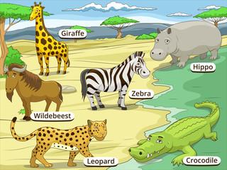 Educational game African savannah animals