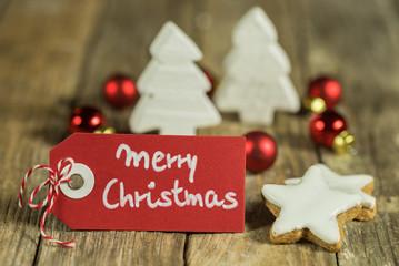 Merry Christmas Postkarte Grußkarte Karte