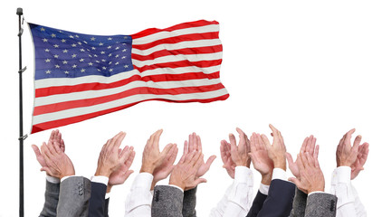 Clapping to American Flag