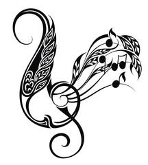 Music decorative illustration