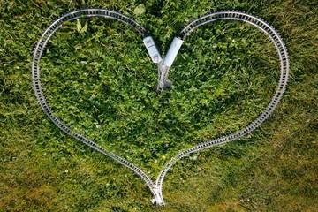 love heart shape railway