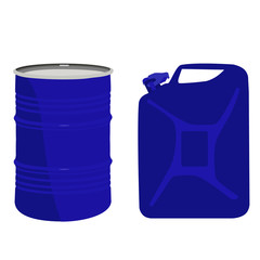Blue barrel and canister