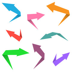 Colorful arrow set