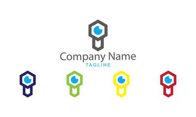 Key and Eye Logo Vector - Privacy Locked