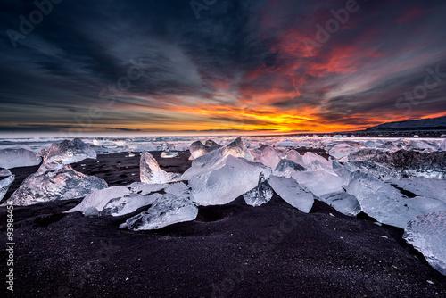 Fototapete Jokulsarlon ice beach, Iceland