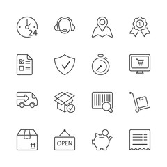 shopping thin line iconset 1
