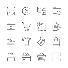 shopping thin line iconset 2