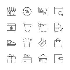 shopping thin line iconset 2