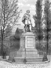 The Statue of Van Dyck in Antwerp by Leonardo Cuyper, vintage en