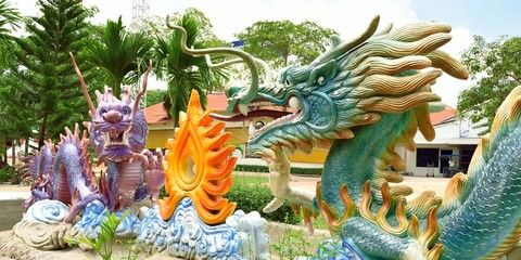 Statues of Chinese Dragons
