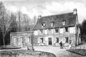The House of the nurse of Henri IV in Billere, near Pau, vintage