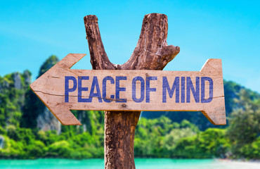 Peace of Mind arrow with beach background