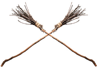 Two crossed witches broom