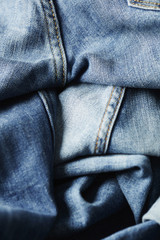 Close up old jeans