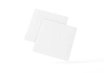 Flyer Broschüre quadrat auf Hintergrund