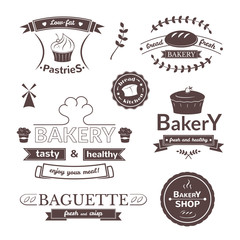 Bakery signs set