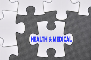 jigsaw puzzle written word health and medical