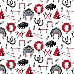 Pattern with wild west elements