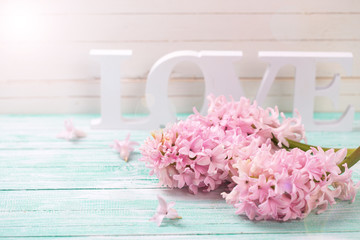 Flowers and word love