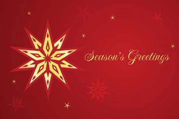Vector Christmas card with star.