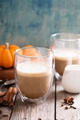 Pumpkin spice latte with spices