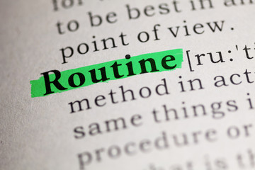 Wall Mural - Routine