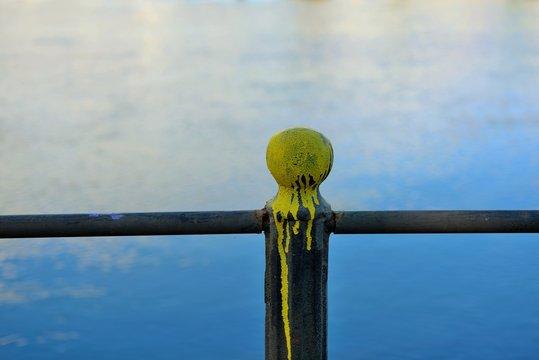 Paint spraying pole