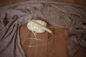 cozy knitting, a set of loops