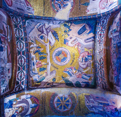 Wall Murals Imagination Detail of the decoration of the famous chora church in istanbul