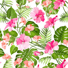 Tropical flower pattern.