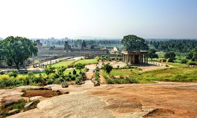 Wall Mural - Ancient ruins of Vijayanagara Empire in Hampi, Karnataka, India.