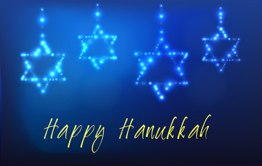 Jewish holiday Hanukkah Greeting Card