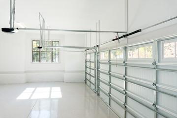 Large three car house garage interior