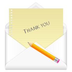 envelope thank you