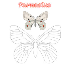 Educational game  connect dots to draw butterfly