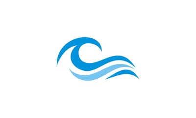 ocean wave abstract water logo