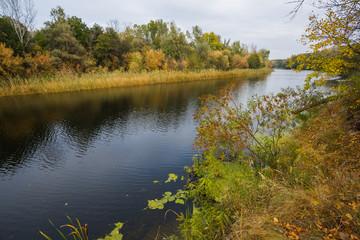quiet autumn river scene
