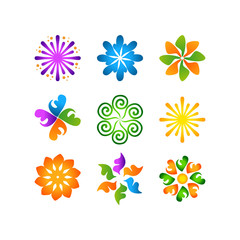 radial vector pattern floral color colorful 2