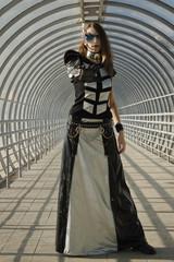 Cyberpunk style woman