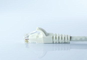 LAN cable line isolated on white background