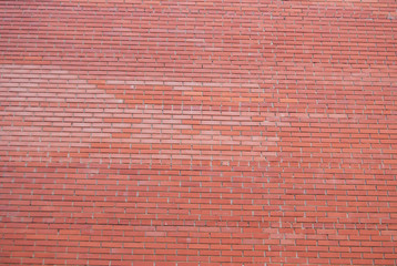 background of Red Brick wall for texture