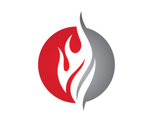 """fire Logo"" ...K Logo In Fire"