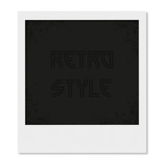 Photo frame in a retro style with shadow
