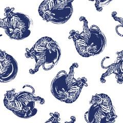 虎と筆跡のパターン