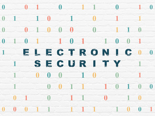 Privacy concept: Electronic Security on wall background