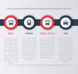 City transport, infographic design elements, icons, vector illustration