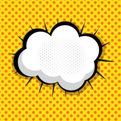 Speech Bubble Pop Art Background On Dot Background Vector Illust