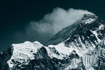 Peak of Mt. Everest. View from Gokyo Ri (5,360m.), Himalayas, Solukhumbu District (Sagarmatha NP), Nepal Wall mural