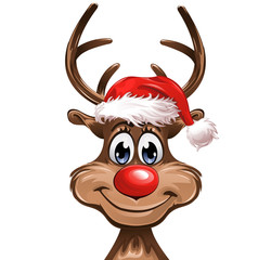Christmas Rudolph smiling